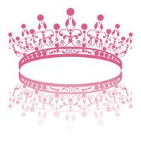 diadem. elegance feminine tiara with reflection