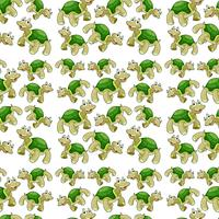 Green turtle seamless pattern