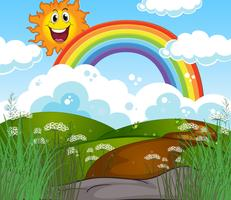 A Sunny Beautiful Day Landscape vector