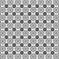 zwart wit overladen medaillonpatroon