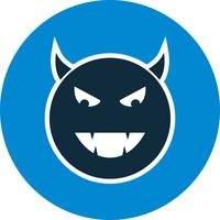 Devil Emoji Vector Icon
