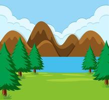 Een vlak natuurlandschap