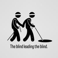 The blind leading the blind. vector
