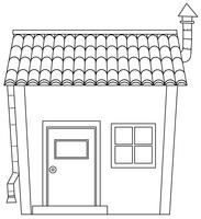Simple cartoon house outline