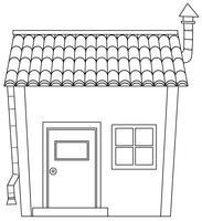 Eenvoudig cartoon huis overzicht