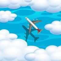 Ein Flugzeug aus der Luft