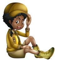 Safari Girl su sfondo bianco
