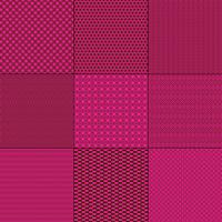 magenta pink  and brown mod geometric patterns