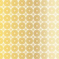 gold white circle medallion pattern