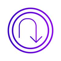 Vector U-turn Icon