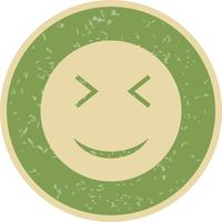 ícone de vetor emoji de wink