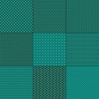 turquoise blue and brown mod geometric patterns
