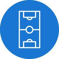 Voetbalveld Vector Icon