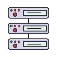 Ligne remplie icône