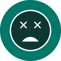 Ícone de vetor de emoji morto