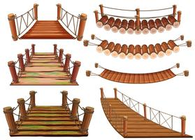 Wooden bridges in different designs