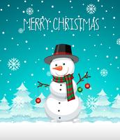 A snowman christmas template vector
