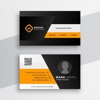 Plantilla de tarjeta profesional geométrica amarilla