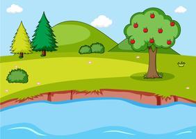 Fond de paysage de nature simple vecteur