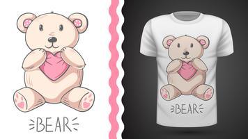 Gullig björn - idé för tryckt-shirt.
