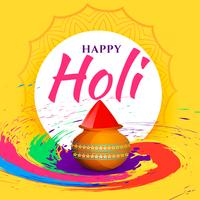 abstract colorful happy holi festival background