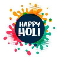 happy holi colors splatter background