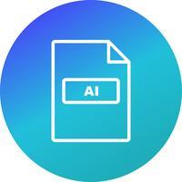 Icône de vecteur AI