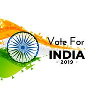 abstract indian election banner design