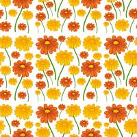 A daisy flower seamless pattern