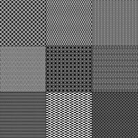 black and white mod geometric patterns