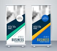 abstact geometric rollup banner design