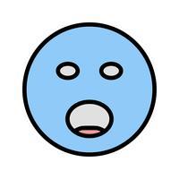 Schreien Emoji-Vektor-Symbol
