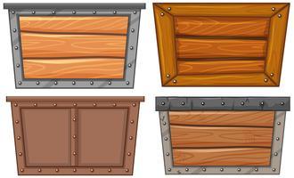 Un ensemble de cadre en bois