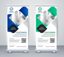 abstract business professional roll up banner design