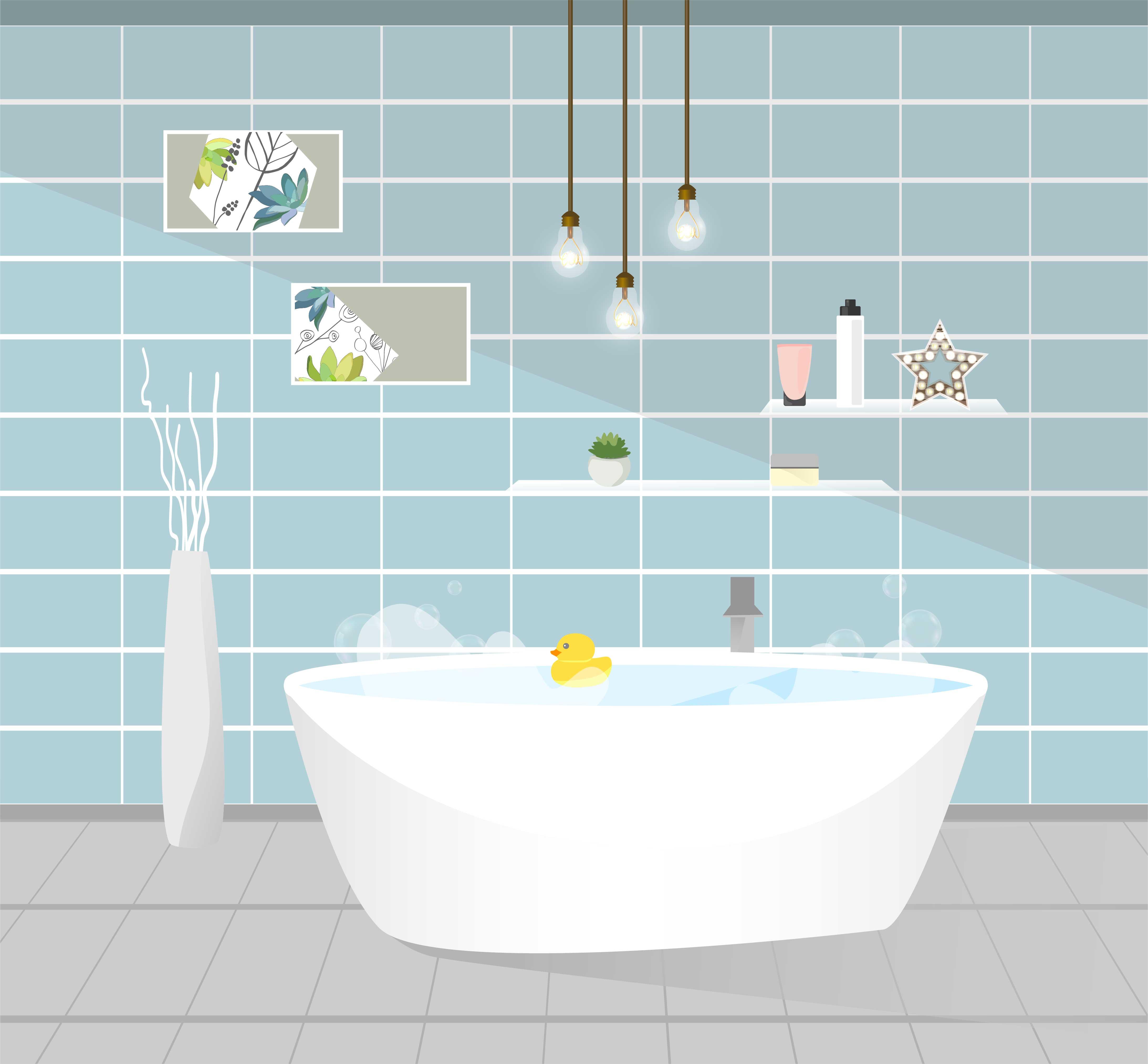 Bathroom interior. Vector illustration. - Download Free Vectors