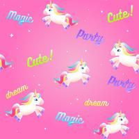 Unicorn cute set. Colorful rainbow, ice cream, magical liquid in a bottle with star. cartoon set illustration