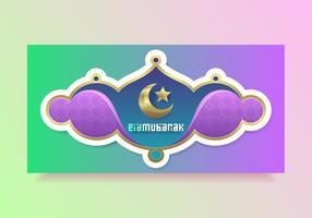 Modèle de vecteur magnifique Eid Mubarak