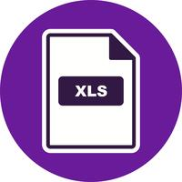 Ícone de vetor XLS
