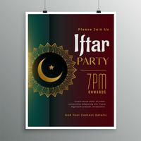 Fiesta de celebración de iftar para la temporada de ramadán.