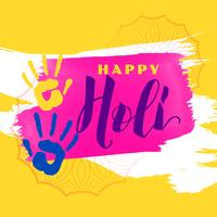 abstract happy holi background with color hands
