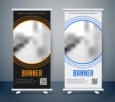 simple dark and light rollup banner