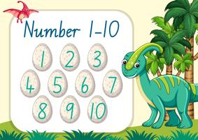 Count number dinosaur theme