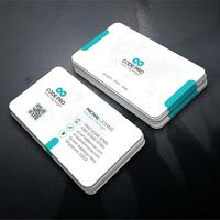 Vector template visit card Free Vector