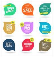 Försäljning banner mallar design och specialerbjudanden taggar samling