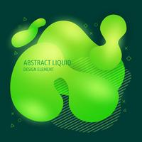 Abstract modern flowing liquid shapes design elements. Dynamical bright gradient colored banner vector
