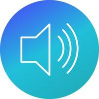 ícone de vetor de volume alto