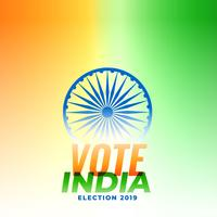 indian election banner design illustration