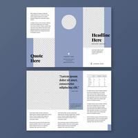 Plantilla de folleto minimalista azul marino vintage
