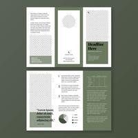 Minimalistisk olivgrön broschyrmall