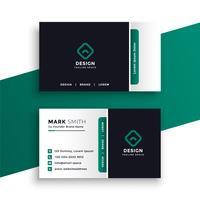 professionelle elegante Visitenkarte Designvorlage